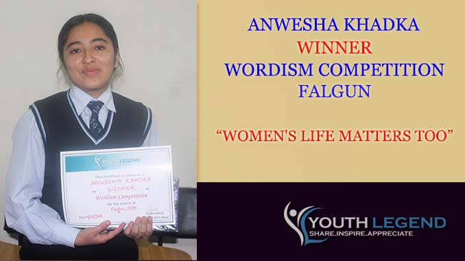 Women's Life Matters Too, Anwesha Khadka, Winner, Falgun, 2074