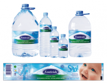 Nuevas etiquetas de Agua Mineral Natural Fonteide