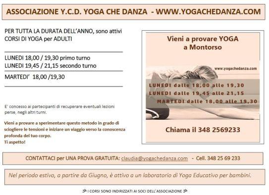 volantino yoga montorso