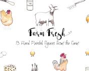 Hand Painted Farm Fresh Clipart
