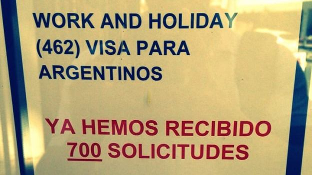cupos visas de australia para argentinos work and holiday