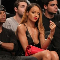 Rihanna Shows A Lot Of Leg Courtside As Chris Brown Hints At Split