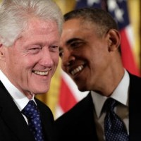 Obama, Bill Clinton huddle with Democrats to plot 2014 strategy