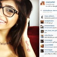 "Songs and death threats for Lebanese American p""""n star Mia Khalifa"