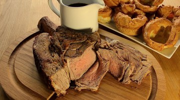 Rib of Beef with Yorkshire Pudding