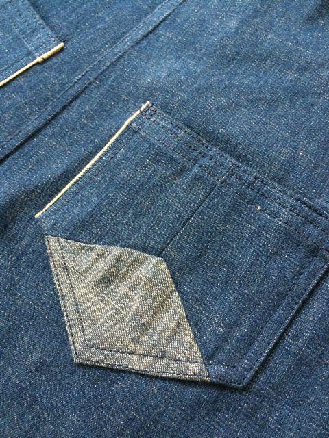 Patchwork pockets.