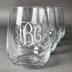Fun Personalized Stemless Wine Glasses Canada Personalized Stemless Wine Glasses Wedding Favors Interlocking Monogram Wine Glasses Set Interlocking Monogram Wine Glasses Set