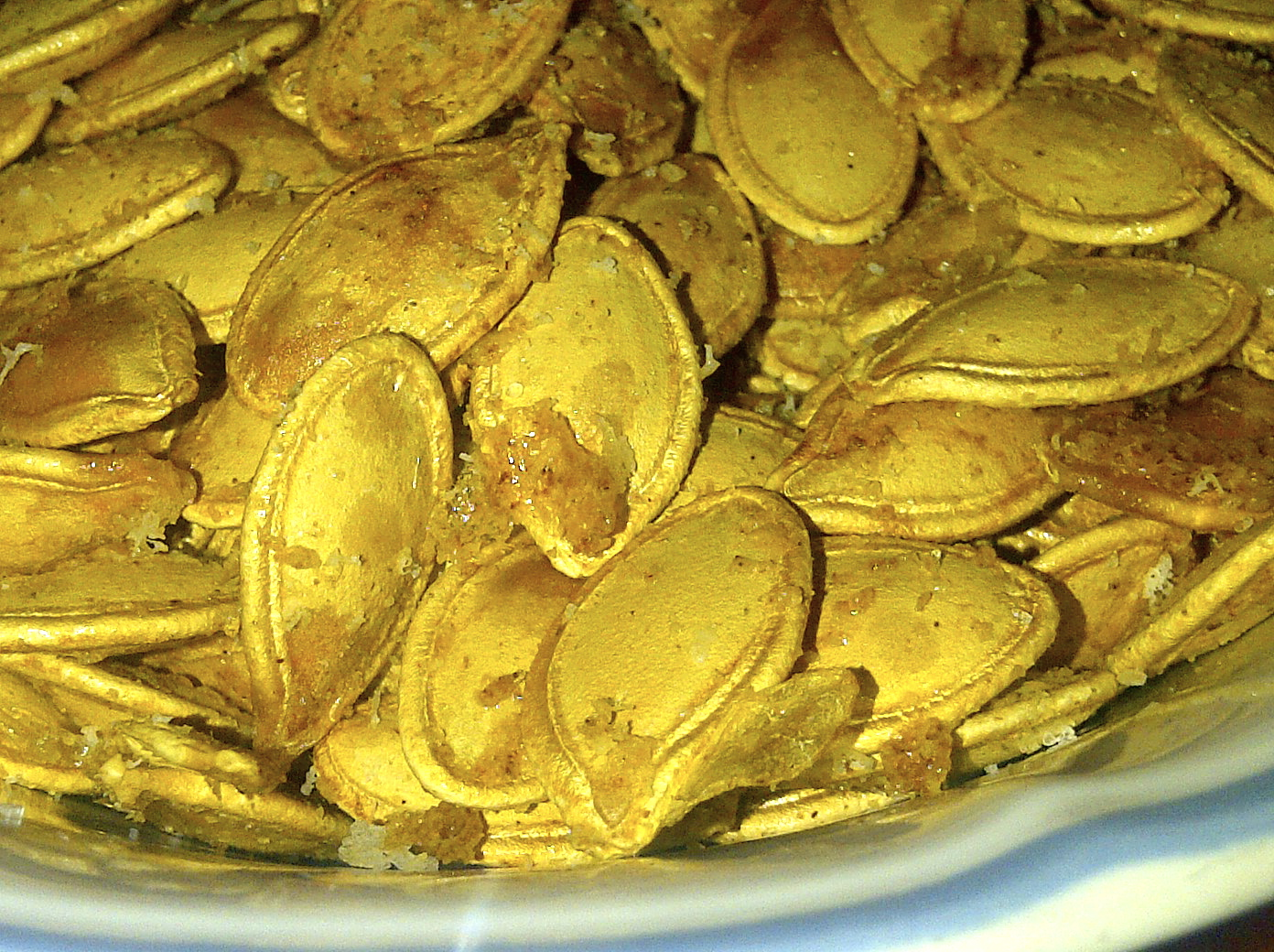 Autumn Series:  Italian Roasted Pumpkin Seeds