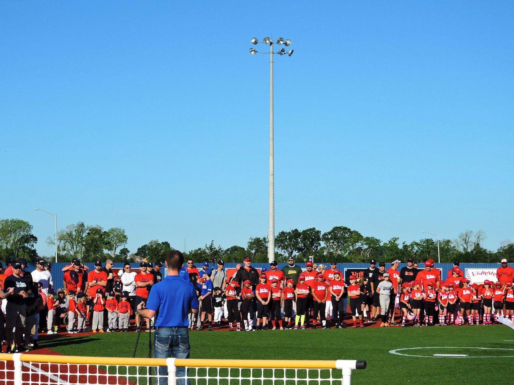 Baseball Day, 2016, Mayor Ken Ritter welcoming the teams