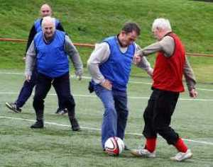 walking football image