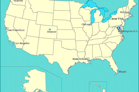 usa map with state names and cities