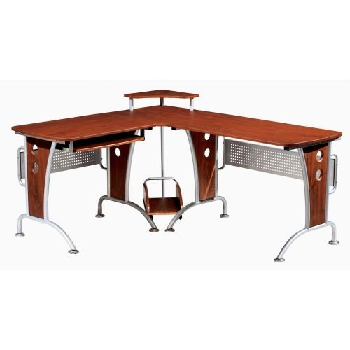l shaped desk - Glass L Shaped Desk