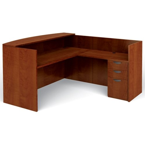 most office reception desks will also have a counter for this will allow clients and to fill out paperwork hand in forms and complete other