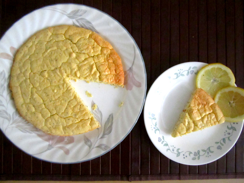 Low Carb Lemon Poppy Seed Chiffon Cake