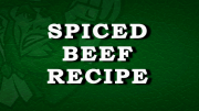Spiced Beef Recipe