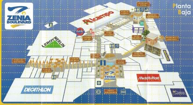 Map Of La Zenia Boulevard
