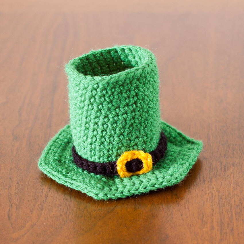 Crochet Pattern Leprechaun Hat : Leprechaun Hat Beer Cozy - Free Crochet Pattern You ...