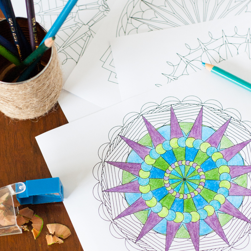 Create Your Own Mandala Adult Coloring Pages
