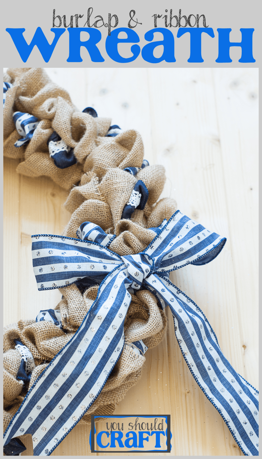 Burlap And Ribbon Wreath You Should Craft