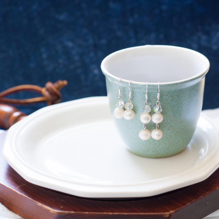 Pearl Drop Earrings - Two Ways