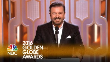 Ricky Gervais monolog at the Golden Globes