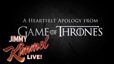 Apologies for Hodor