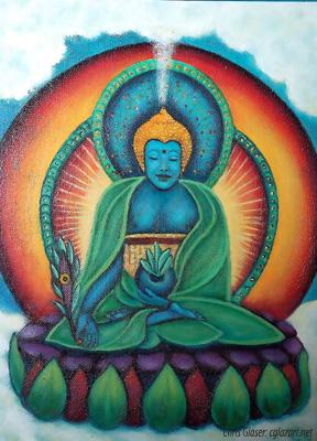 Medicine Buddha sm with sig