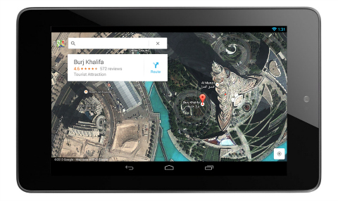 google maps tablets