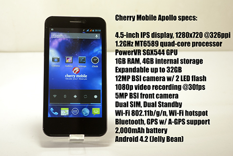 Cherry Mobile Apollo Specs