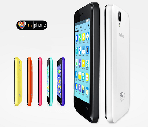 This is the MyPhone Rio Craze that sports a 4-inch display, 1.3MP rear camera, is dual-SIM ready, and runs on a 1.3GHz dual-core processor.