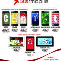 Starmobile drops prices and offers freebies on 9 Androids