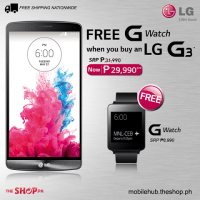 LG G3 with Free LG G Watch for only Php29,990