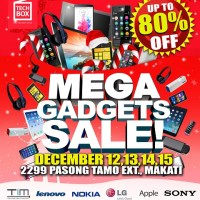 Techbox to hold Mega Gadgets Sale on December 12-15