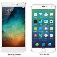 Battle of the Pros: Xiaomi Mi Note Pro vs Meizu MX4 Pro