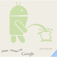 Android pisses on Apple logo, Google apologizes after