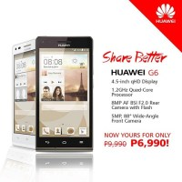 Huawei Ascend G6 gets a price cut, now costs Php7K
