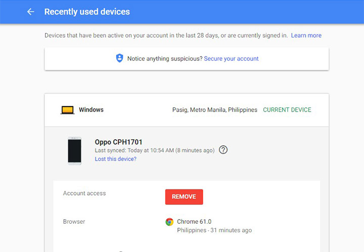 How to identify devices with access to your Google account ...