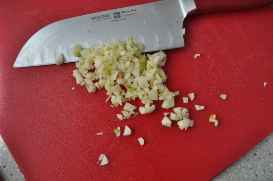 Chop that garlic up!