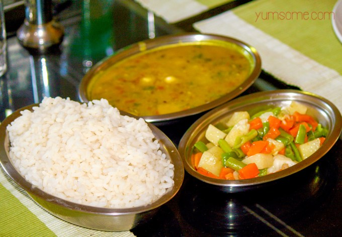buttered-veg-and-dal