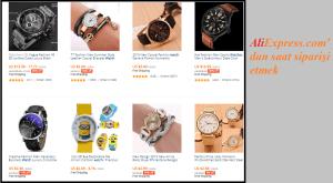 Aliexpress'den saat satın almak