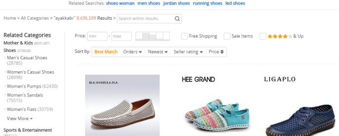 Yurt dışından ayakkabı sipariş etmek