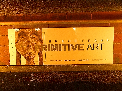 NY- Bruce Frank Primitive Art Sign