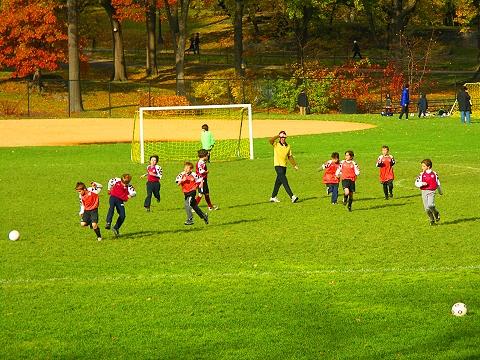 NY- Cenral Park North Meadows- Autumn Colors- West Side Soccer League