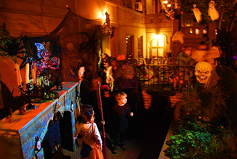NY- Halloween Trick or Treat on West 69th Street