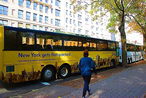 NY- Ikea Bus Ad on Central Park West