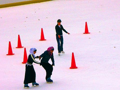NY- Wollman Rink, Central Park, Ice Skating, Christmas