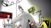 """<p>El pasado 5 de agosto, un médico de un hospital de Wuhan le quitó los puntos que le había cosido a su paciente hacía tan sólo unos minutos. ¿El motivo? Que no llevaba consigo el dinero suficiente para pagar la operación. Según cuenta la revista New Century Weekly (新世纪周刊), el buque insignia del grupo mediático Caixin, la enfermera se acercó al paciente y le dijo:""""O nos pagas, ¡o te quitamos los puntos!"""".</p> <p>El dibujante Ding Huayong (丁华勇) lo expresaba de la siguiente forma en el último númerodel <em>New Century Weekly</em>, publicado el 15 de agosto:&nbsp.</p>"""