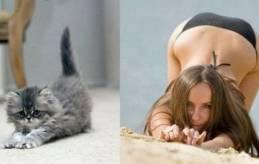 fille etire yoga
