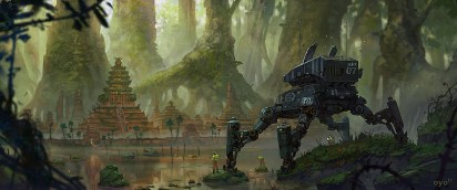 robot temple planete jungle