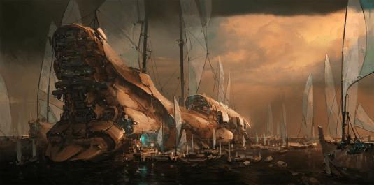steve shi bateau futuriste